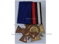 Germany WW1 Prussia Hindenburg  Cross Long Military Service 1st Class XV years Medal Combatants set WWI 1914 1918 Decoration German