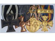 Germany WW1 Regimental Iron Cross 21st Infantry Reg Veterans Legion Honor Military Medals set German 1914