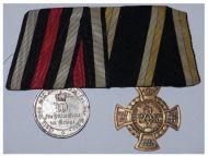 Germany Combatants Cross German Civil War 1866 Franco Prussian Military Medal 1870 Steel Kaiser Wilhelm set