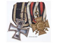 Germany WW1 Iron Cross EK2 Maker KO Hindenburg JK Military Medals set WWI 1914 1918 Great War Decoration