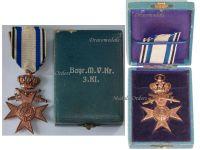 Germany WW1 Bavaria Cross Military Merit 3rd Class Swords Crown Merenti 1866 Medal Bavarian Award Boxed Maker Weiss & Co Munchen