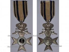 Germany WW1 Bavaria Cross Military Merit 2nd Class Swords Crown Merenti 1866 Medal Bavarian Decoration Maker Deschler