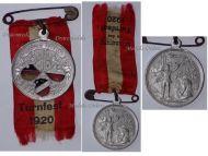 Germany Saxony Reuss Gymnastic Tournament 1920 Sport Federation Medal Commemorative Decoration Sports Memorabilia