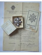 Germany WWI German Field Decoration Honor Badge Hamburg Veterans Association 1914 1918 with Diploma to Sergeant Boxed