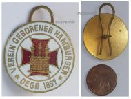 Germany WW1 Hamburg Born Association 1897 WW1 badge pin 1914 1918 Decoration German Great War Award