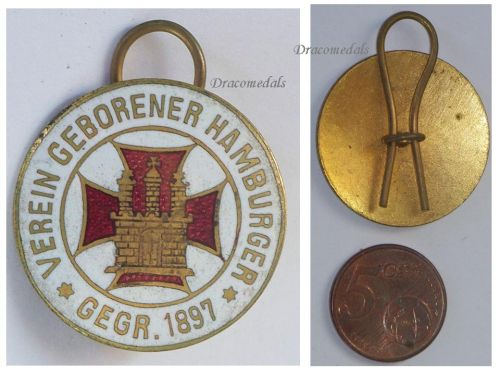 Germany WW1 Hamburg Born Association 1897 WW1 badge pin 1914 1918 Decoration German Great War Award