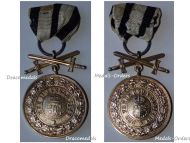 Germany Hohenzollern WWI Gold Merit Medal with Swords 3rd type 1842