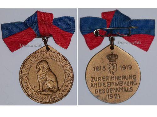 Germany WW1 Oldenburg 91 Infantry Regiment Centenary Military Medal 1819 1919 Decoration Award Great War