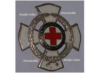 Germany WW1 Prussian Red Cross Land Forces Association Badge 2nd Class 25 Years Service 1920 Military Medal Prussia German WWI 1914 1918 Godet Berlin