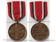 Germany WWI Prussia Red Cross Service Medal 3rd Class in Bronze