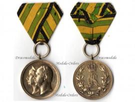Germany WW1 Saxe Weimar Eisenach Gold Medal Golden Jubilee Carl Alexander Sofie 50th Wedding Anniversary 1842 1892 Decoration