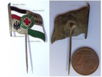 Germany WWI Saxony German Red Cross Patriotic Stickpin Cap Badge 1914 1918