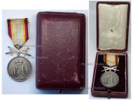 Germany WWI Waldeck Pyrmont Silver Merit Medal with Swords Boxed