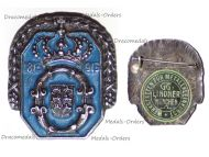 Germany Wurttemberg Jubilee Badge 1st Wurt. Dragoon Regiment N.25 Queen Olga 1813 1913 by Lindner