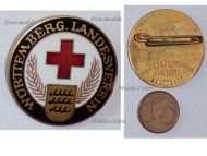 Germany WWI Wurttemberg Badge of the Red Cross Veterans Association for the Land Forces by Mayer & Wilhelm