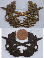West Germany NCO Army Cap Badge German Military Bundeswehr 1956 Cold War
