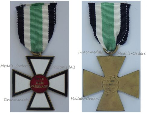 Germany WWI Cross of the German People's Order or Confession of Loyalty to the Fatherland Cross