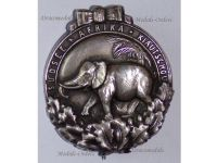 Germany WW1 Africa Colonial Elephant Badge Military Medal 1922 South Seas Prussia Weimar Republic Silver Example