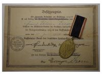 Germany WWI Prussia Lighthouse Kyffhauser Land Forces Veterans Commemorative Medal 1914 1918 with Diploma to the 79th Infantry Regiment von Voigts Rhetz