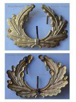 Germany WWI Prussia Lighthouse Kyffhauser Land Forces Veterans Visor Oak Leaves Cap Badge