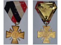 Germany WW1 Prussia Army Veterans Association Cross Badge 25 Years Membership WWI 1914 1918 Prussian German Decoration