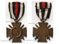 Germany WWI Hindenburg Cross with Swords for Combatants Maker Erbe