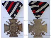 Germany WWI Hindenburg Cross with Swords for Combatants Maker G&S on Austrian Ribbon