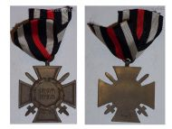 Germany WWI Hindenburg Cross with Swords for Combatants Maker G&S