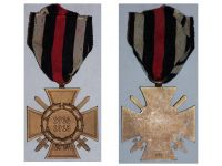Germany WWI Hindenburg Cross with Swords for Combatants Maker HKM