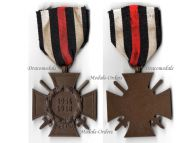 Germany Hindenburg Cross Combatants Maker NB&N German WW1 Military Medal Honor 1914 1918 Great War