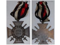 Germany WWI Hindenburg Cross with Swords for Combatants Maker O5