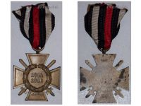 Germany WWI Hindenburg Cross with Swords for Combatants Maker O&B