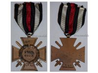 Germany Hindenburg Cross Combatants Maker RV 13 Pforzheim German WW1 Medal Honor 1914 1918 Great War