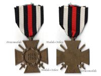Germany Hindenburg Cross Combatants Maker WDD German WW1 Military Medal Honor WWI 1914 1918 Great War