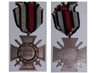 Germany Hindenburg Cross Maker W&LM German WW1 Military Medal Honor 1914 1918 Great War