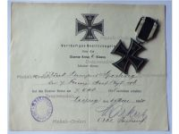 Germany WWI Iron Cross 1914 2nd Class by Maker KAG with Diploma to the 106th Infantry Regiment King Georg