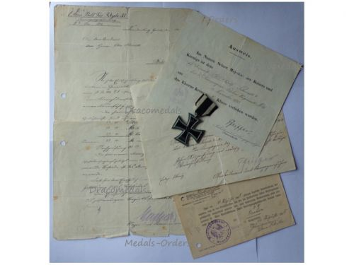 Germany WWI Iron Cross 1914 2nd Class by Maker KAG with Diploma to NCO of the 35th Fusilier Regiment Prince Heinrich of Prussia