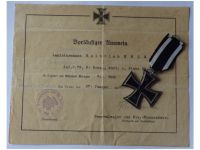 Germany WWI Iron Cross 1914 2nd Class by Maker KAG with Diploma to the 79th Infantry Regiment von Voigts Rhetz