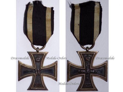 Germany Iron Cross 1914 EK2 Maker CD 800 German WW1 Medal Decoration Merit  Prussia WWI 1918 Great War