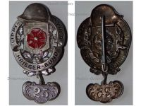 Germany Lippe Detmold WWI Badge Veterans Association with 25 Years Membership Bar Weimar Republic 1918 1934