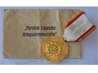 Germany Lippe Detmold WWI War Medal Honor 1915 for Meritorious Homeland Service 1914 1918 with Envelope of Issue