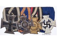 NAZI Germany WW2 Cross Loyal Civil Service 2nd Class NSDAP Iron Cross 1914 Oldenburg EK2 FA2 German Decoration