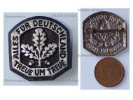 NAZI Germany WWII Patriotic Loyalty Badge with the Motto of the German Paratroopers