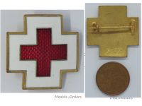 Germany WW2 German Red Cross Badge Civil Volunteer Social Welfare 5th Type by Deschler