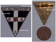 NAZI Germany WW2 NSDAP Party Membership Women badge German Decoration WWII 1939 1945 Maker RZM M1/63 Steinhauer & Luck