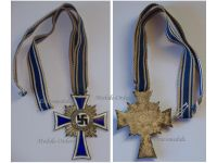 NAZI Germany WWII Mothers Cross 1938 Silver Class 2nd Type 1939