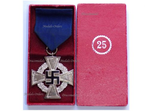NAZI Germany WWII Loyal Civil Service Cross 2nd Class for 25 Years Boxed