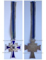 NAZI Germany WWII Mothers Cross 1938 Silver Class 2nd Type 1939