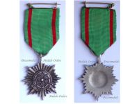 NAZI Germany WWII Ostvolk Eastern Peoples Medal for Bravery with Swords Silver 2nd Class in Silvered Zinc