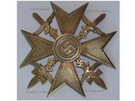 NAZI Germany WW2 Spanish Cross Gold Swords Civil War 1936 1939 Legion Condor Military Badge German Maker C. E. Juncker Silver 900